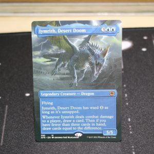 Iymrith, Desert Doom extended art Adventures in the Forgotten Realms (AFR) mtg proxy for GP FNM magic the gathering tournament proxies