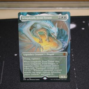 Icingdeath, Frost Tyrant extended art Adventures in the Forgotten Realms (AFR) mtg proxy for GP FNM magic the gathering tournament proxies