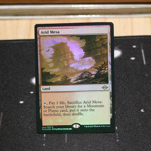 Arid Mesa Modern Horizon 2 MH2 foil German black core mtg magic the gathering proxy for FNM GP tournament