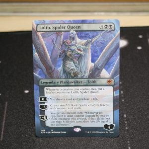 Lolth, Spider Queen extended art Adventures in the Forgotten Realms (AFR) mtg proxy for GP FNM magic the gathering tournament proxies