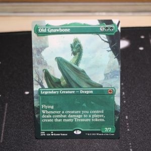 Old Gnawbone extended art Adventures in the Forgotten Realms (AFR) mtg proxy for GP FNM magic the gathering tournament proxies