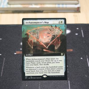 Archaeomancer's Map extended art Commander 2021 C21 mtg proxy for GP FNM magic the gathering tournament proxies