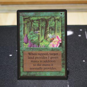Wild Growth B Limited Edition Beta (LEB) mtg proxy for GP FNM magic the gathering tournament proxies