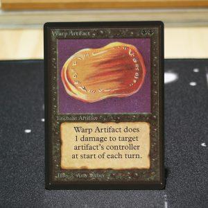 Warp Artifact B Limited Edition Beta (LEB) mtg proxy for GP FNM magic the gathering tournament proxies
