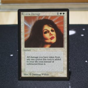 Reverse Damage B Limited Edition Beta (LEB) mtg proxy for GP FNM magic the gathering tournament proxies